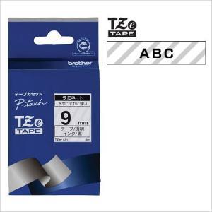 ラベルライター カートリッジブラザー ピータッチテープ9mm幅 透明 黒文字TZe-121
