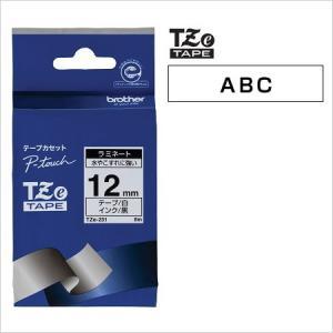 ラベルライター カートリッジブラザー ピータッチテープ12mm幅 白 黒文字TZe-231