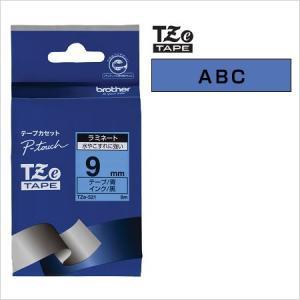 ラベルライター カートリッジブラザー ピータッチテープ9mm幅 青 黒文字TZe-521