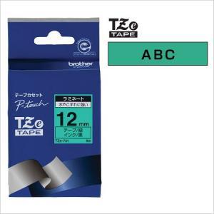 ラベルライター カートリッジブラザー ピータッチテープ12mm幅 緑 黒文字TZe-731