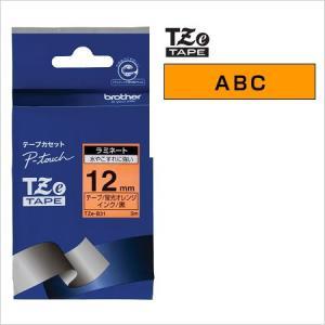 ラベルライター カートリッジブラザー ピータッチテープ12mm幅 蛍光オレンジ 黒文字TZe-B31