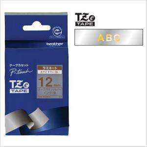 ラベルライター カートリッジブラザー ピータッチテープ12mm幅 サテンシルバー(つや消し)金文字T...