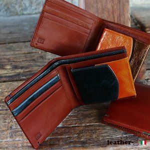財布 メンズ 二つ折り ブランド 二つ折り財布 本革 イタリア革 leather-g|wraps