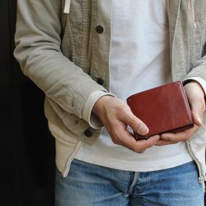 財布 メンズ 二つ折り ブランド 二つ折り財布 本革 イタリア革 leather-g wraps 03