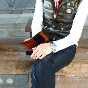 財布 メンズ 二つ折り ブランド 二つ折り財布 本革 イタリア革 leather-g wraps 04