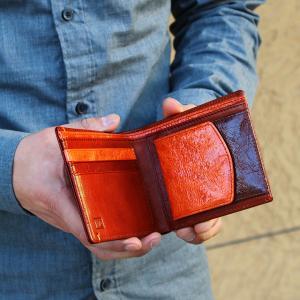 財布 メンズ 二つ折り ブランド 二つ折り財布 本革 イタリア革 leather-g wraps 05