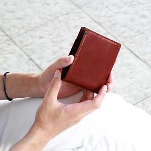 財布 メンズ 二つ折り ブランド 二つ折り財布 本革 イタリア革 leather-g wraps 06
