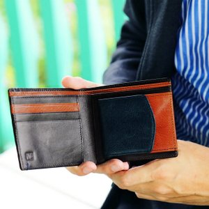 財布 メンズ 二つ折り ブランド 二つ折り財布 本革 イタリア革 leather-g wraps 07