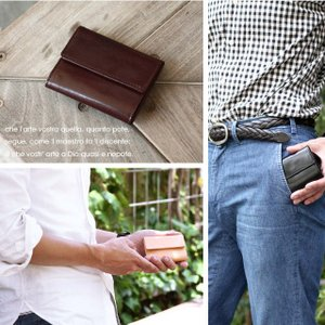 財布 メンズ 小さい 財布 軽量 薄い 財布 コンパクト 本革 ミニマリスト 三つ折り メンズ ミニ財布 革 レザー おしゃれ 使いやすい ブランド VEOL 財布|wraps|14