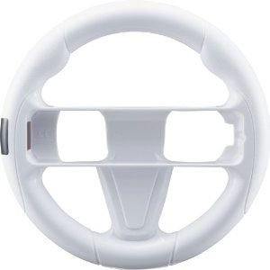 新品 Wii WiiU周辺機器 CYBER ・ ハンドルグリップ ( Wii U 用) ホワイト|wsm-store