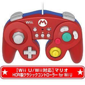 棚卸しの為★10月19日発送★新品】Wii WiiU周辺機器 (Wii U Wii対応) ホリ製 クラシックコントローラー for Wii U マリオ|wsm-store