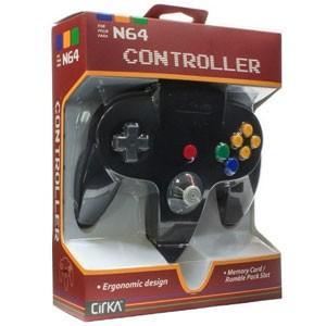 【新品】N64周辺機器 サードパーティー社製 N64専用コントローラー N64 Cirka Controller ? Black|wsm-store