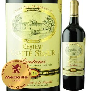 赤ワイン シャトー・コンテ・セギュール・プレスティージュ 2014年 フランス ボルドー フルボディ 750ml wine|wsommelier