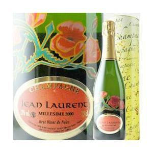 シャンパン・スパークリングワイン ブラン・ド・ノワール・コクリコ・ラベル ジャン・ローラン 2000年 フランス シャンパーニュ 白 辛口 750ml wine|wsommelier