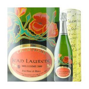 シャンパン・スパークリングワイン ブラン・ド・ブラン・コクリコ・ラベル ジャン・ローラン 2000年 フランス シャンパーニュ 白 辛口 750ml wine|wsommelier