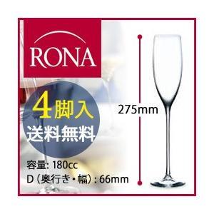送料無料 4脚入 シャンパーニュ フルート ソムリエ・グラン・クリュ Sommelier Grand Cru ロナ RONA ワイングラス・シャンパン|wsommelier