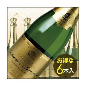 シャンパン・スパークリングワイン ケース販売6本入 ブラン・ド・ブラン ヴーヴ・アンバル NV フランス ブルゴーニュ 白 辛口 750ml wine|wsommelier
