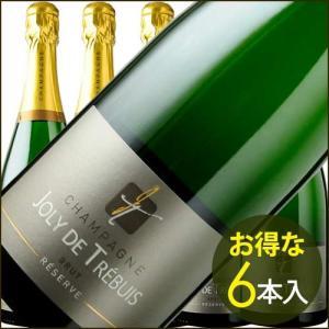 シャンパン・スパークリングワイン ケース販売6本入 ジョリー・ド・トレビュイ・ブリュット シャテ NV フランス シャンパーニュ 白 辛口 750ml wine|wsommelier