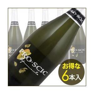 シャンパン・スパークリングワイン ケース販売6本入 プロ・シック・スプマンテ IEI NV イタリア ヴェネト 白 辛口 750ml wine|wsommelier