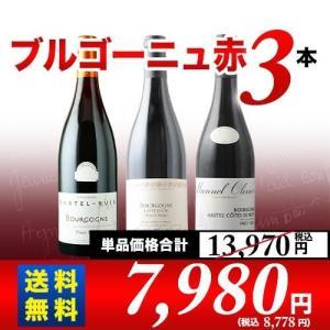 赤ワインセット ブルゴーニュ赤3本セット 第13弾 送料無料 wine set|wsommelier