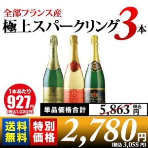 ワイン スパークリングワインセット 10周年記念特別セット!全部フランス産極上スパークリング3本セット 送料無料 wine set|wsommelier