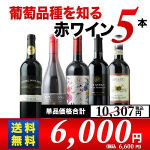 赤ワインセット 葡萄品種を知る赤ワイン5本セット 第11弾 送料無料 wine set|wsommelier