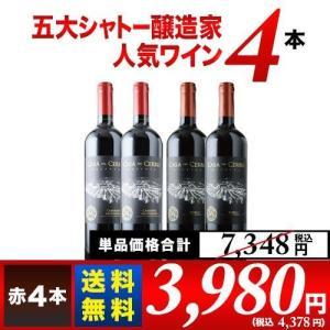 ワインセット 赤ワイン 金賞ボルドーとオーパス・ワン醸造家ワイン5本セット(赤5本)送料無料 wine set