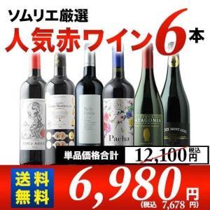 赤ワインセット ソムリエ人気赤ワイン6本セット 第34弾 送...