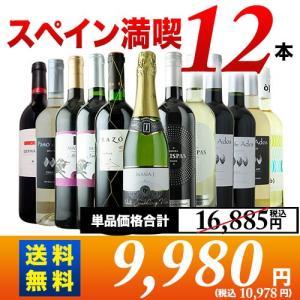 ワイン ワインセット スペイン12本セット 第17弾 送料無料 泡1本&白4本&赤7本 wine set wsommelier