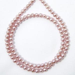 淡水真珠 パールネックレス ピンク〜ピンクパープル系(ナチュラル) 4.0mmUP A〜BA〜B ポテト 引き輪(silver) [n4]|wsp