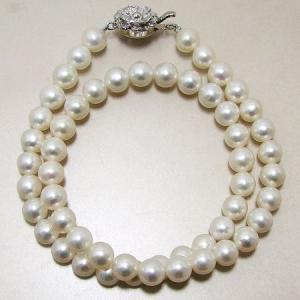 【即納】淡水真珠 パールネックレス ホワイト系 7.5-8.0mm BC ポテト バラクラスプ(silver) [n1]|wsp