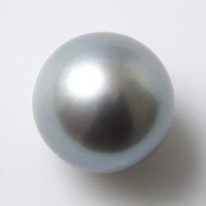 淡水真珠 パールルース(シングル) グレー系 9.0-9.5mm 大珠 A〜BC ラウンド (片穴があいています)[n3]|wsp
