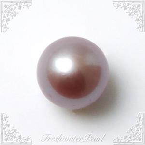 淡水真珠 パールルース(シングル) ピンク系(ナチュラル) 8.0-8.5mm A〜BA〜B ラウンド (片穴があいています)[n3]|wsp