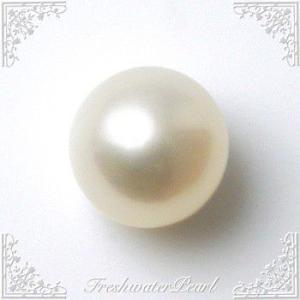 淡水真珠 パールルース(シングル) ホワイト系 8.0-8.5mm A〜BA〜B ラウンド (片穴があいています)[n3]|wsp