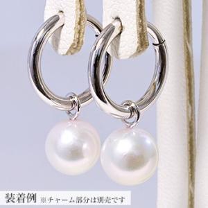 まるでピアスみたいなばね式リングイヤリング金具(K14WG)(真珠用)[n6] wsp 05