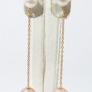 細あずきチェーン(3cm) ピアスチャーム金具 K18 ゴールド (カンの内径:約1.3mm)[n4]|wsp