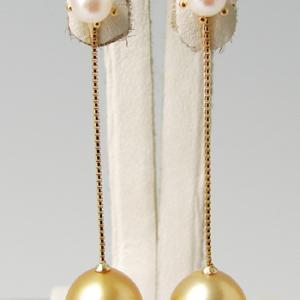 ベネチアンチェーン(3cm) ピアスチャーム金具 K18 ゴールド (カンの内径:約1.3mm)[n4]|wsp