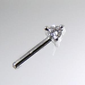 ダイヤモンド0.02ct金具の穴ふさぎ加工 K14WG ホワイトゴールド[n5]|wsp