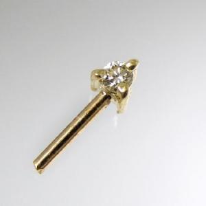 ダイヤモンド0.02ct金具の穴ふさぎ加工 K18 ゴールド [n5]|wsp