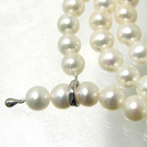 淡水真珠 ロングパールネックレス 120cm ホワイト系 7.0-7.5mm BB ポテト クリッカークラスプ(silver)[n3] [120cm ロング]|wsp|03