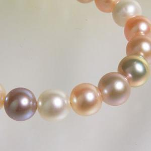 [選べる3サイズ] 淡水真珠 パールブレスレット フローラルマルチ系(ナチュラル) 7.5-8.0mm A〜BB〜C ポテト バラクラスプ シルバー(silver)[n3] wsp 03