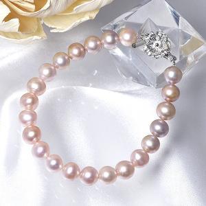 [選べる3サイズ] 淡水真珠 パールブレスレット ピンク系(ナチュラル) 7.0-8.0mm BB バラクラスプS シルバー(silver) [n2]|wsp