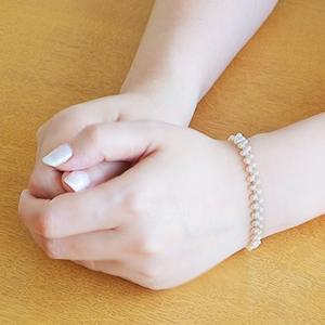 淡水真珠 クレオパトラ パールブレスレット ホワイト系 2.5-3.0mm AC  クリップクラスプ シルバー(silver/金メッキ) [n2]|wsp|04