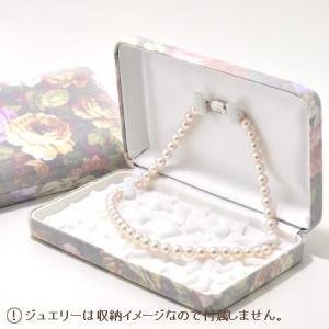 [ネコポス発送不可] 花柄 ジュエリーケース 1点用(ネックレス)ギフトにもおすすめ [n3](真珠 パールジュエリー専用)|wsp