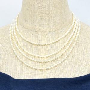 淡水真珠 ロングパールネックレス 160cm(4倍ロング) 4.0-5.0mm A〜BB ポテト 引き輪(silver) [n3][11-1063][160cm ロング] wsp