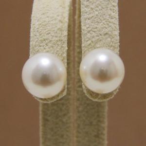 淡水ピアス 淡水パール パールピアス ホワイト系 8.0-8.5mm A〜BA〜B    本真珠[n3]|wsp