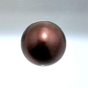 タヒチ黒蝶真珠 パールルース(シングル) チョコレート(ブラウン)系 10.0mmUP AAB ラウンド (無穴)[n4][10-1679]|wsp