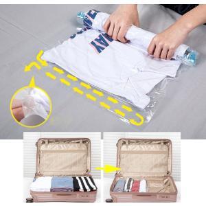 衣類圧縮袋 衣類真空パック 掃除機不要 衣替え  収納 旅行 (40 * 50cm/35 * 50c...