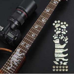 インレイ ステッカー 猫足 生命の樹 二枚セット   ギター フレットシール フィンガーボード   ...