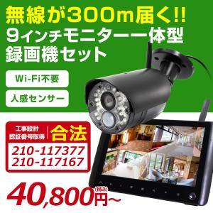 【業界初!!】100万画素・デジタル無線2.4GHz対応最大300M通信可能,モニター一体型録画機と屋外防滴 赤外線カメラ 1台基本セット!【TTC-No1MN/No1R】 wtw